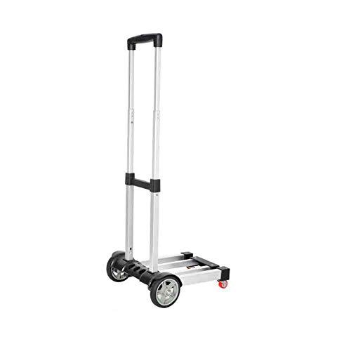 Sunny Carretilla Carrito de la Compra Plegar Trolley Carretilla de Equipaje de Aluminio Carros de supermercado Carretilla...