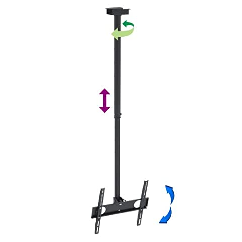 """InstallerParts TV Mount for 32""""-55"""" LED, LCD Plasma Flat Screen TV – Mounting Hole Patterns up to VESA 400x400mm – Ultra Slim TV Ceiling Mount Bracket – TV to Ceiling is 41.5"""