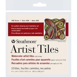 Bulk Buy: Strathmore (3-Pack) Artist Tiles 4in. x 4in. 10/Pkg Watercolor - Tiles 4x4 Artist