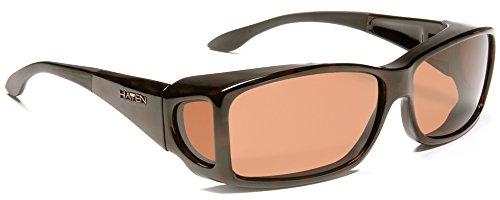 Haven Fits Over Sunwear Windemere Over-Prescription Sunglasses,Tortoise Frame/Amber Lens,one - Sunglasses Haven Men For