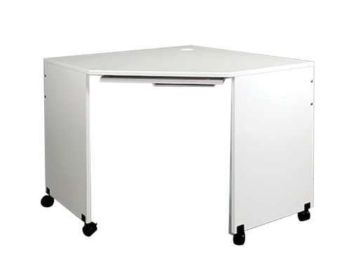 Contemporary Deluxe Computer Desk - Sewingrite Model 14 Deluxe Computer Corner Table With Mouse Tray White