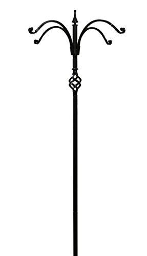 Erva Pole - Kettle Moraine 4 Arm Decorative Bird Feeder Pole Set with Twister Ground Socket