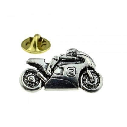 Biker Zinn Anstecknadel Abzeichen Motorrad Ashton and Finch Motorrad