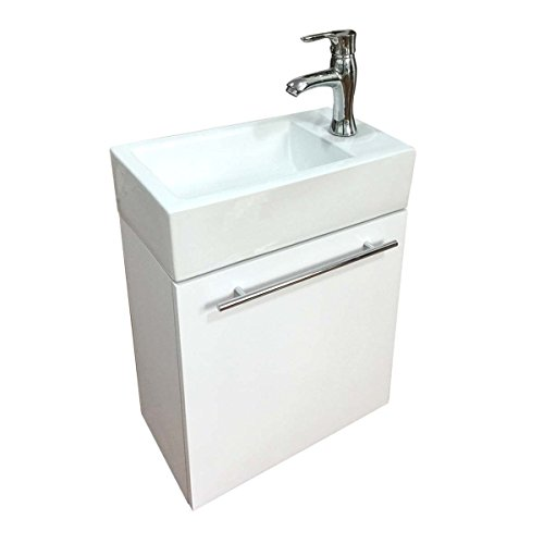 Bathroom Sink White Vanity With Towel Bar Faucet And