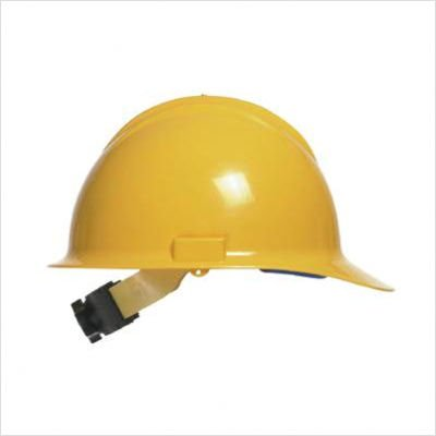 Bullard 30YLR Yellow Class E or G Type I Classic C30 3000 Series HDPE Cap Style Hard Hat With 6-Point Ratchet Suspension, Accessory Slots, Chin Strap Attachment And Absorbent Cotton Brow Pad (1/EA)