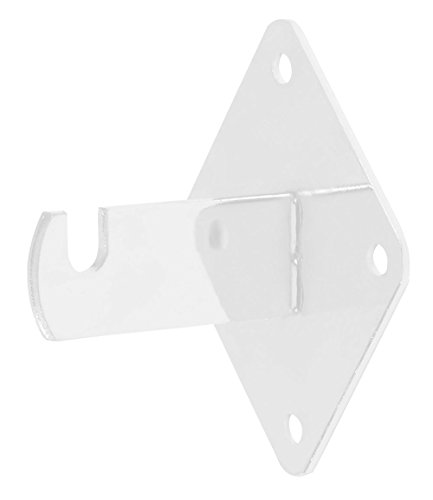 Grid Wall Mount Brackets for Wire Gird and Slatgrid Panels - White - 15 Pack