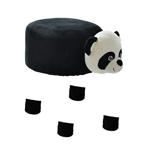 Fityle Cute Round Chair Stool Cover Children's Chair Cover with Animal Shape - 30CM (12-Inch) Diameter - Panda by Fityle
