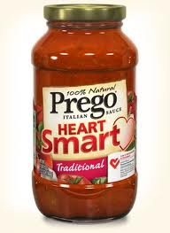 Prego Heart Smart Italian Sauce 23.5oz Jar (Pack of 4) Choose Flavor Below (Traditional) (Prego Heart)