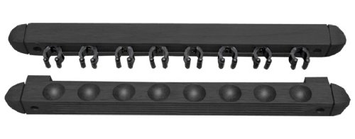 Sterling Gaming Roman-Style Two-Piece Wall Rack (8 Cue), Black
