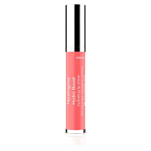 Neutrogena Hydro Boost Hydrating Lip Shine, 30 Flushed Coral Color 0.10 Oz