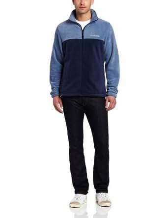 Columbia Men's Big & Tall Extended Steens Mountain Full Zip 2.0 Fleece Jacket, Collegiate Navy, 6X