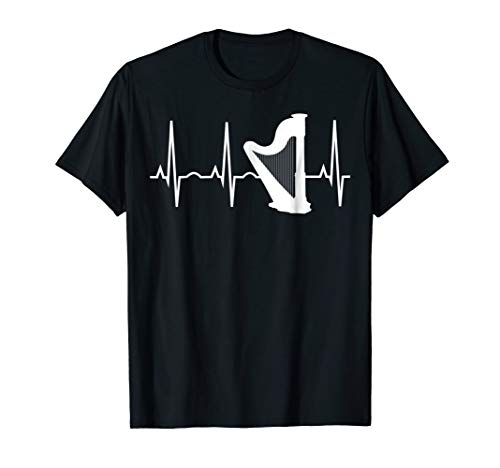 (Harp Shirt - Harp Player Heartbeat T-Shirt for)