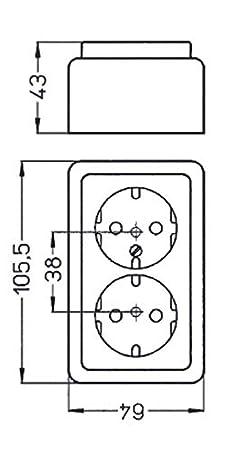 Regleta KOPP 102502002