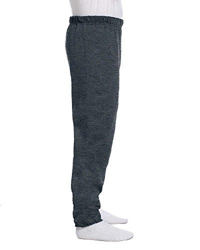 Jerzees mens 8 oz. 50/50 NuBlend Fleece Sweatpants(973)-BLACK HEATHER-S ()