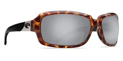 Costa del Mar Women's Isabela IB 76 OSCP Polarized Iridium Oval Sunglasses, Retro Tortoise black, 63.2 mm (Sunglass Hals Gurt)