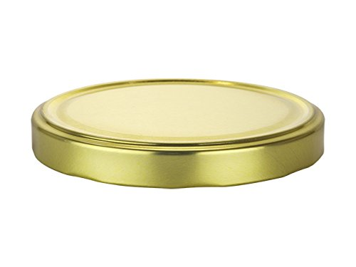 Nakpunar 24 pcs 89TW Gold Canning Jar Lids - BPA Free Plastisol Lined, 89 mm, Made in USA by Nakpunar