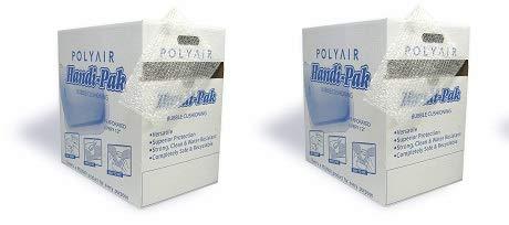 Polyair Handi-Pack HPS12 Durabubble Bubble Cushion Dispenser Style Box, 12''X 175', 3/16'' Thickness (2-(Pack))