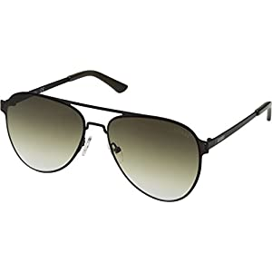 GUESS GF0180 Satin Gunmetal With Olive/Khaki Gradient Lens One Size