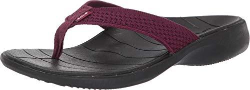 SOLE Women's Del Mar Sport Flip, Mulberry, W 7
