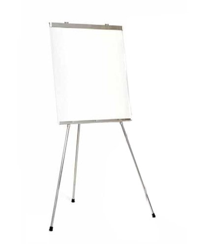 Portable 3-Leg Whiteboard Presentation Easel in Aluminum by Marsh