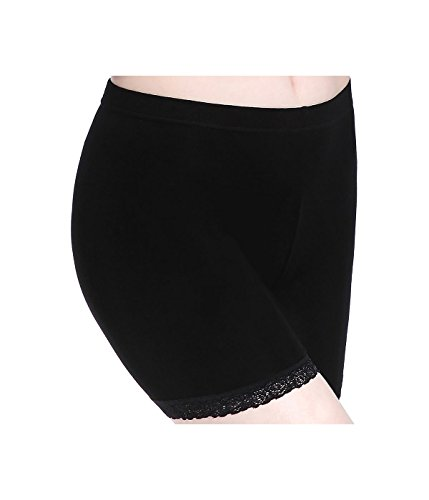- CnlanRow Womens Short Lace Trim Leggings - Safety Pants Stretch Shorts Leggings Women