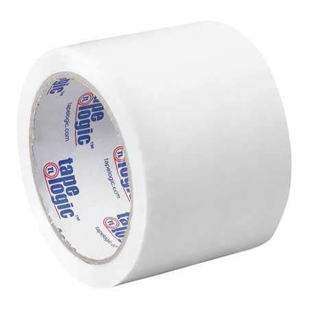 Carton Sealing Tape, 3x55 yd, White, PK6