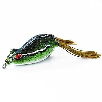 BBP salsa 60mm/16g rana cebo de pesca señuelo paquete verde con dos ganchos