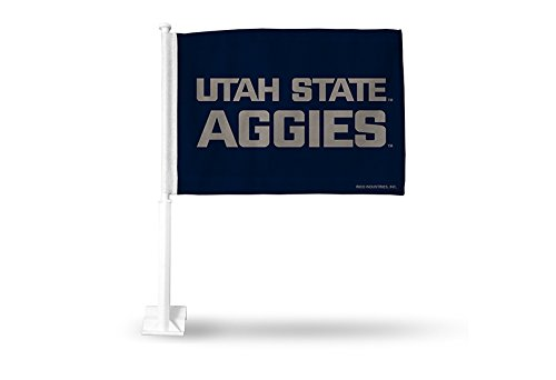 NCAA Utah State Aggies Car Flag, Red, with White Pole by Rico
