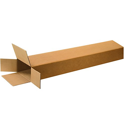 BOX USA B8452FOL Side Loading Boxes, 8'' x 4'' x 52'', Kraft  (Pack of 15) by BOX USA