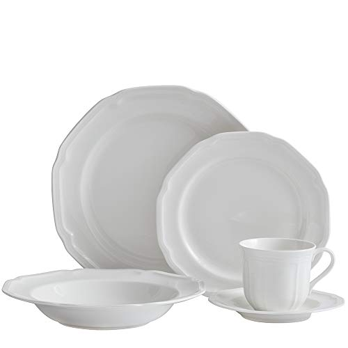Mikasa 5224779 Antique White 40-Piece Dinnerware Set, Service for 8
