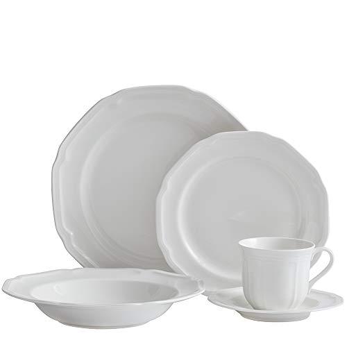 Mikasa 5224779 Antique White 40-Piece Dinnerware Set, Servic