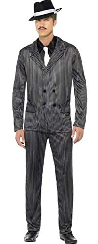 Adult Mens 1920s Gangster Gangsta Bugsy Malone Great Gatsby Fancy Dress Costume Outfit (Large (42-44