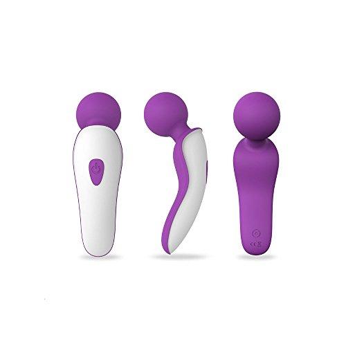 Foxlove New Waterproof Women Muti Frequency Vibrating Mini Wand Massager -Adult Toys (Purple)