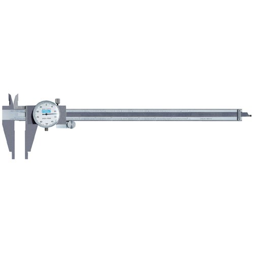 Fowler 52-025-112 Stainless Steel Heavy Duty Dial Caliper, 12'' Maximum Measuring, 2.875'' Jaw Depth, 0.001'' Graduation Interval