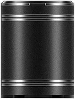 ほとんどの車の旅行に適したステンレス鋼車の灰皿付きのふた、アッシュ貯蔵タンク多機能 (Color : 黒)