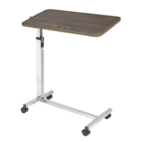 Drive Medical Tilt Top Overbed Table, Walnut by Drive Medical (Image #1)