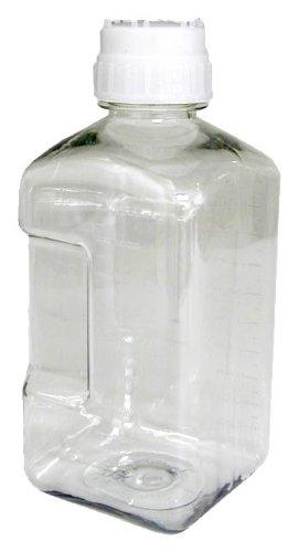 Nalgene 2019-0125 Sterile Media Bottle, Square, PETG, 125mL (Case of 48) by Nalgene