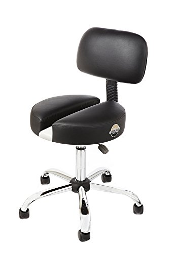 The CT-100 Rolling Stool with Patented Split Seat Technology For Lower Back, Sciatica, Tailbone, Coccyx, Degenerating Disc, Sacrum, Prostate and Pelvic Pain Relief