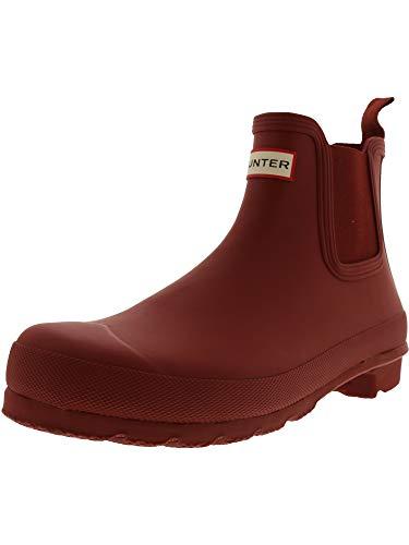 Hunter Women's Original Chelsea Military Red High-Top Rubber Rain Boot - 9M -