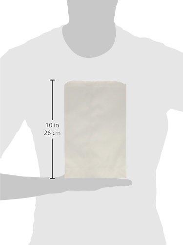 "Pinch Bottom Paper Bags 6""X9"" 100/Pkg-White"