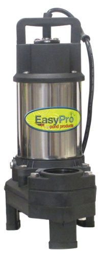 Easy Pro TH250 4100 GPH Pond Pump with FREE Bonus Aerator | Stainless Steel Submersible Pump for Ponds, Pondless Waterfalls, and Skimmer Filters