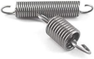 NO LOGO ZZB-LSTH 1Pcs Zugfeder mit Haken Aussendurchmesser 12mm Wei/ß verzinkt Zugfeder Drahtdurchmesser 2mm L/änge 40-100mm Size : 2 x 12 x 40mm