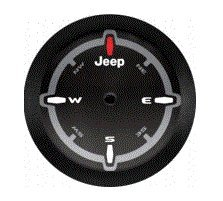 Compass Logo Mopar 82215446 2018 Jeep Wrangler Spare Tire Cover