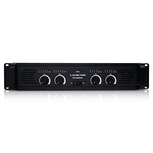 (Sound Town 4-Channel 4 X 750W at 4-ohm, 6000W Peak Output Professional Power Amplifier (NIX-6000X4))