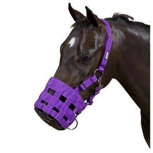 Hy Muzzle - full - purple (Hy Maulkorb, Warmblut, Lila)