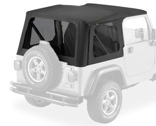 Bestop 58128-35 Black Diamond Tinted Window Kit for Bestop Replace-A-Top for 2003-2006 Wrangler (except Unlimited) - Bestop Replacement Windows