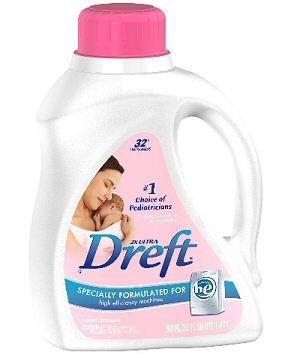 Dreft 2x he Liquid Laundry Detergent 50 Ounce