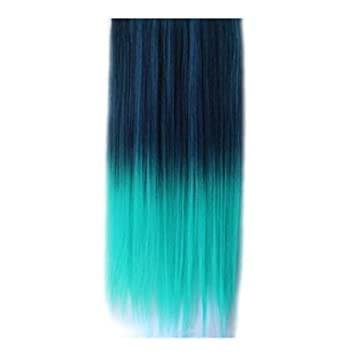Synthetic hair extensions ombre colorful clip in hair straight 08 synthetic hair extensions ombre colorful clip in hair straight 08 bluepeacock 1 piece pmusecretfo Choice Image