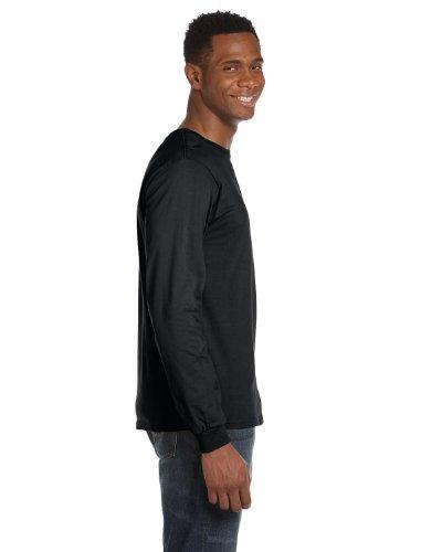 Anvil 4,5 oz Langarm-T-Shirt in S in schwarz