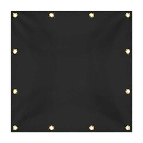 zes, 18 oz Vinyl Coated PVC Tarps Heavy Duty Waterproof, Weather and 100% UV Resistant Large Tarpaulin, Perfect for Canopy Tent, Boat Or Pool Cover. Black - 20' x 30' (20' Black Fire Pit)